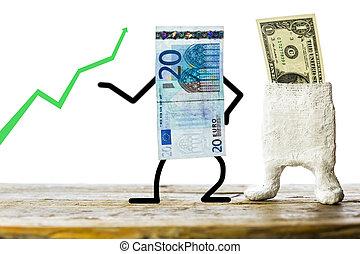 Geldscheine, Konzept Devisenhandel
