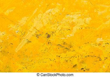 gele, abstract, acryl, achtergrond