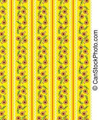 gele, behangpatroon