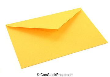 gele briefomslag