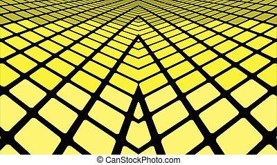 gele, geometrisch, achtergrond, abstract