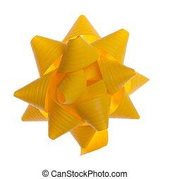 gele, geschenk buiging