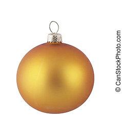 gele, kerstmis bal