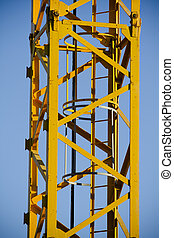 gele kraan, toren