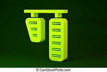 gele, vrijstaand, rem, gas, minimalism, achtergrond., groene, 3d, pictogram, render, pedalen, concept., illustratie, auto