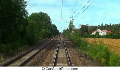 geleider, de, hoge snelheid trein