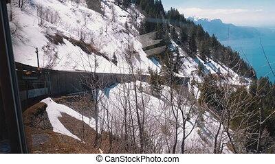 geleider, tandrad, steil, trein, bergen, alpen, uphill.,...