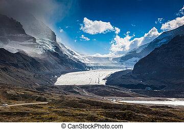 geleira, derretendo, columbia