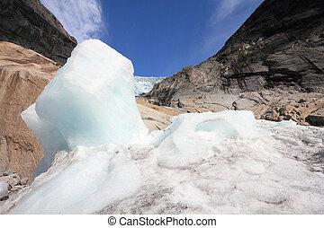 geleira, em, noruega