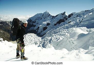 geleira, escalador