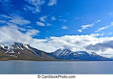 geleira, oceano ártico