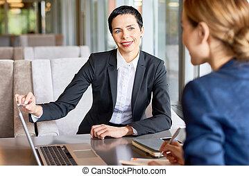 gelenk, arbeit, von, finanziell, manager