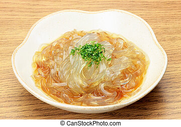gelidium jelly - This is called tokoroten by Japanese food.