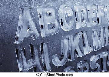 gelo, alfabeto