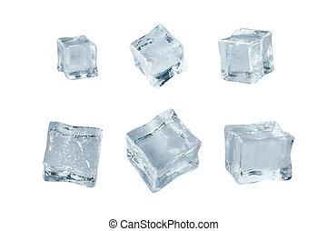 gelo, jogo, cubos