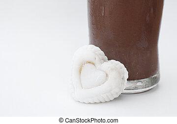 gelo,  marshmallow,  chocolate