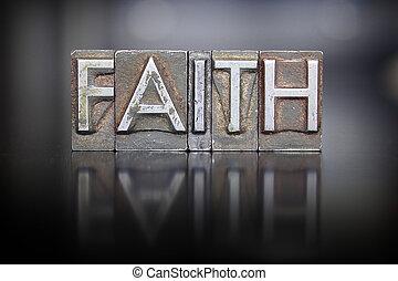geloof, letterpress
