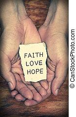geloof, liefde, hoop