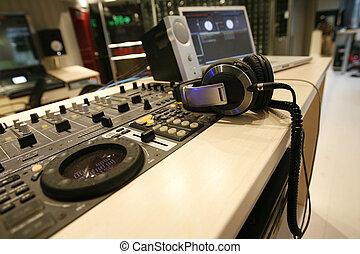 geluid, controle, station