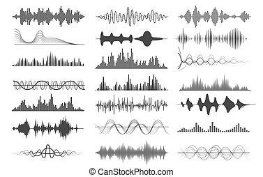 geluid, diagrammen, golf