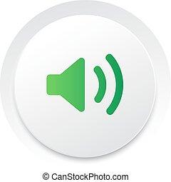 geluid, eenvoudig, knoop,  unmute,  Vector, Muziek,  interface,  UI, cirkel