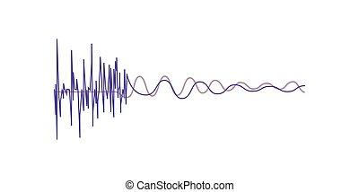 geluid, equalizer, golven, illustratie, vector, muziek, achtergrond, digitale , witte , audio, technologie