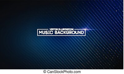 geluid, equalizer, het tonen, eps10, illustration., blue.,...