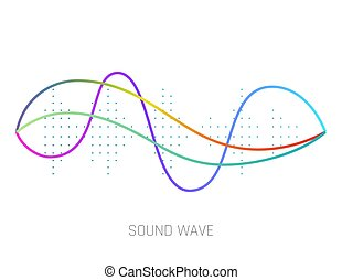 geluid, equalizer, technologie, musical., vrijstaand, pols, achtergrond., vector, muziek, golven, witte , audio, illustration.