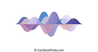 geluid, equalizer, technologie, pols, illustratie, vector, achtergrond, witte , audio, golven, muzikalisch