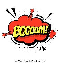 """geluid, lettering, kunst, knallen, effecte, woord, komisch, """"boom"""""""