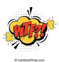 geluid, lettering, woord, knallen, effecte, wtf, kunst, komisch