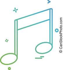 geluid, media, vector, ontwerp, muziek, pictogram