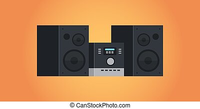 geluid, plat, concept, elektrisch, hoi, studio, systemen,...