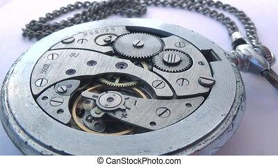 geluid, stopwatch, oud, mechanisme, tick-tick