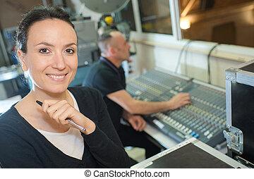 geluid, studio, ingenieurs