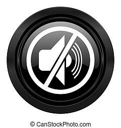geluid uitschakelen, meldingsbord, black , pictogram, stilte
