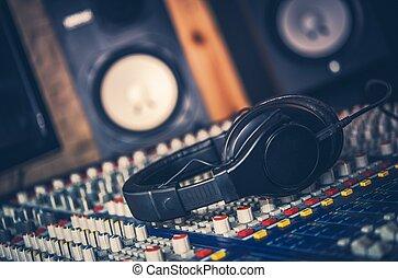 geluid, werk, het beheersen
