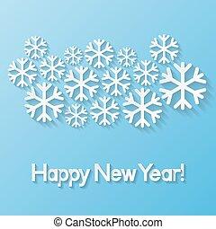 gelukkig nieuwjaar, begroetende kaart