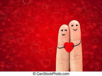 gelukkig paar, verliefd