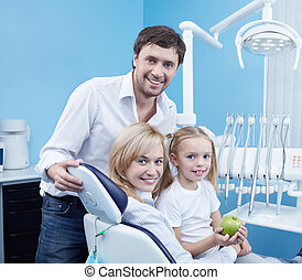 gelukkige familie, tandheelkunde