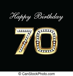gelukkige verjaardag, 70