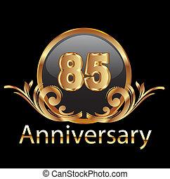 gelukkige verjaardag, 85, jubileum