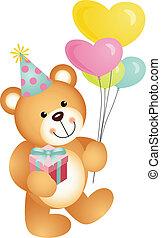 gelukkige verjaardag, beer, teddy