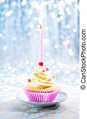 gelukkige verjaardag, cupcake