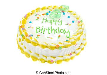 gelukkige verjaardag, feestelijk, taart