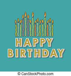 gelukkige verjaardag, kaarsjes
