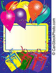gelukkige verjaardag, kaart
