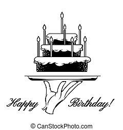 gelukkige verjaardag, kaart, element