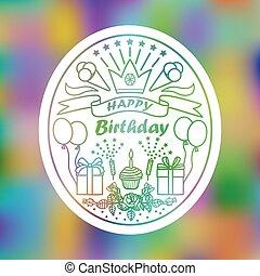gelukkige verjaardag, meldingsbord