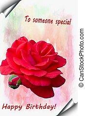 gelukkige verjaardag, rozen